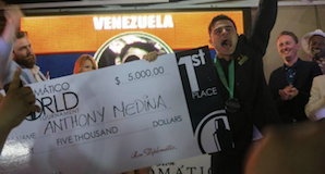 The champion, Anthony Medina